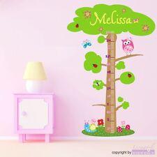 Wall Tattoo Owl Tree Bar Owl Tree Measure Scale Wall Sticker