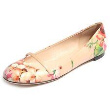 B0174 ballerina scarpa donna GUCCI rosa fiori shoes women