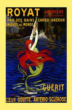 Spring Water Mermaid royat Guerit Unique Cappiello Vintage Poster Repro FREE S/H