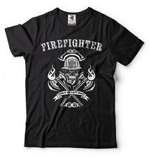 Firefighter T-shirt Fireman Fire Fighter Tee Shirt Gift for Firefighter Dad Tee