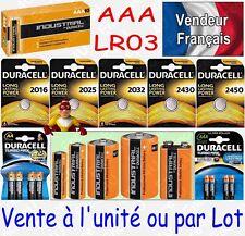 Piles LR3 LR03 AAA DURACELL INDUSTRIAL MN2400 Alcaline x 1 2 4 8 10 20 30 40 50
