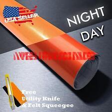 *Reflective Orange DIY Vinyl Car Wrap Sticker Decal Graphic Sign Adhesive Film