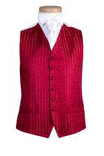 Para Hombre y la página Boys Jeff bancos Rojo Brillante Pergamino Boda Vestido Fiesta Chaleco