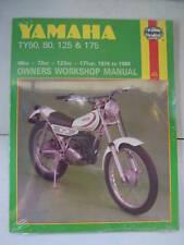 Yamaha Haynes Manual ty80 ty125 ty175 Ty 50 80 125 175 propietarios Taller reparación
