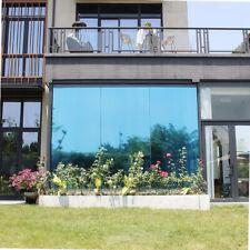 One Way Mirrored Window Film Blue Tint Sunshade Vinyl Architecture Glass Sticker