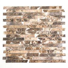 Mosaik Fliese Marmor Naturstein Brick Impala braun poliert 40-1306_f 10 Matten