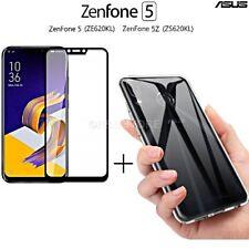 COVER per Asus Zenfone 5/5Z CUSTODIA in TPU + PELLICOLA VETRO TEMPERATO 3D CURVO