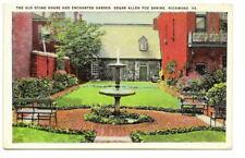 RICHMOND VA Edgar Allen Poe Enchanted Garden Vtg PC