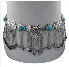 Boho Chunky Coins Gypsy Belly Dance Chain Shimmy Dangle Metal Belt Hippy Turkish