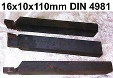 Drehmeißel Drehbank Stechdrehmeißel DIN4981 16x10x110mm Meißel Neu Rabatte MWM