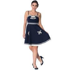 Dancing Days Rockabilly Vintage Kleid Sommerkleid - Set Sail Strappy Matrose