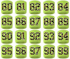 #80-99 Number Sweatband Wristband Football Basketball Soccer Volt Python Snake