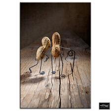 Food Kitchen Old Peanut Couple MULTI CANVAS WALL ART Picture Print VA