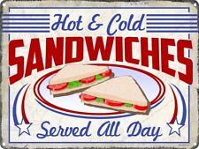 Hot & Cold Sandwiches Tin Sign 40.7x30.5cm