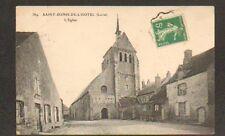 SAINT-DENIS-DE-L'HOTEL (45) ROULOTTE à l'EGLISE & VILLAS en 1912