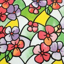 Pellicola Privacy effetto colorato vetrofania a fiori Finestre Vetri Autoadesiva