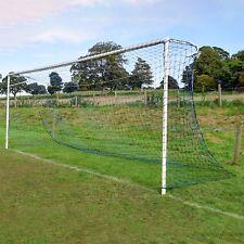 Blue & Black Striped Full Size Football Goal Nets - [Net World Sports]