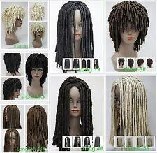 Spiral Curls Length Black Brown Auburn long Dreadlock Wigs Corkscrew Curls wig