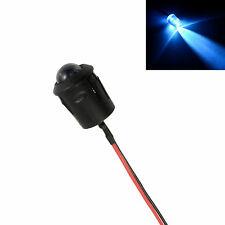 Blanco Pre-Cableado 10mm LED + Bisel Soporte Lámpara de luz 12v
