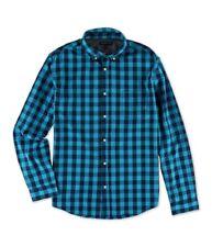 Aeropostale Mens Gingham LS Button Up Shirt