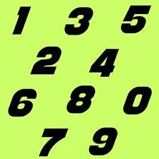 10 cm Zahlen Aufkleber Klebezahlen Ziffern Sticker 1 bis 200 Stück Schwarz SA-38