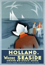 Ta52 Vintage 1930's Holland Dutch Olanda Seaside Travel POSTER re-print A4