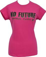 LADIES PINK T-SHIRT NO FUTURE SEDITIONARIES 1977 ORIGINAL LONDON PUNK ROCK 1977