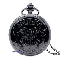 Reloj de Bolsillo Antiguo Colgante Collar de Cadena Harry Potter Hogwarts FOB Steampunk