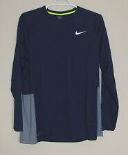 NWT Nike Dri-Fit Crossover Basketball Long Sleeve Shirt L XL 2XL 3XL Obsidian