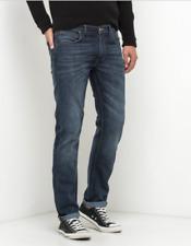 Mens EX Lee Daren  Regular Slim Jeans RRP £85 (Seconds) dark side blue  L178