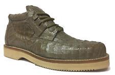 Mens Light Brown Crocodile Western Shoe Sneakers Genuine Exotic Leather Rodeo