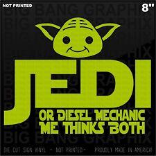 Diesel Mechanic Jedi Vinyl Decal Sticker Bad Ass...