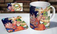 DBZ Dragon Ball Z Goku Young Tea / Coffee Mug Coaster Gift Set