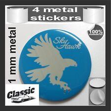 METAL STICKERS WHEELS CENTER CAPS Centro LLantas 4pcs Classic SKY HAWK
