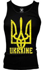 Ukraine Distressed Trident Ukrainian Coat Of Arms  Boy Beater Tank Top