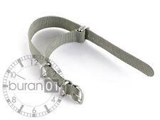 Correas Reloj uhrband-militär Nylon Zulu Band Gris Extra Duro 22mm