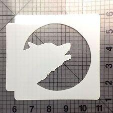 Halloween Wolf Stencil 100