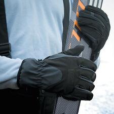 HOMMES FEMMES TISSU SOFTSHELL NOIR Chaude PERFORMANCE ski gants de sport