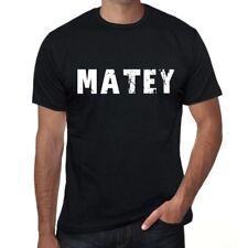 matey Hombre Camiseta Negro Regalo De Cumpleaños 00553