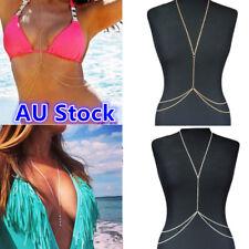 Women Body Chain Crystal Rhinestone Chest Harness Necklace Chains Bikini Jewelry