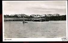 AK-Ammersee-Ottmar Zieher--Dampfer mit Segelboot