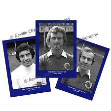 """Leicester City, los jugadores retrato retratos, 7""""x 5"""" impresiones 1974-1975"""