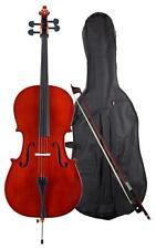 4/4 Cello Set Garnitur Decke Fichte Boden Ahorn Tasche Bogen handgearbeitet