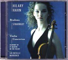 Hilary HAHN: BRAHMS & STRAVINSKY Violin Concerto MARRINER CD Violinkonzerte SONY