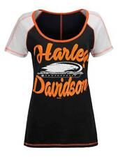 Harley Davidson Women's Screamin' Eagle Cross Stitch SS Slub T-Shirt HARLLT0216