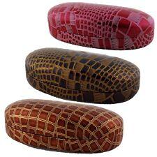 Alligator Print Eyeglass/Sunglass Hard Case Glasses/Sunnies Gator Croc Crocodile