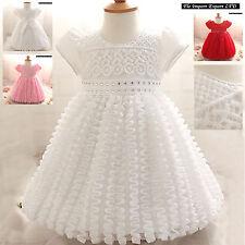 Vestito Bambina Abito Cerimonia Battesimo Girl Party Princess Dress CDR048