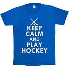 Keep Calm & Play Hockey - Hockey Sticks Mens T-Shirt