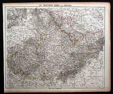 1855 Berghaus Map - Schlesien Mahren Brunn - Germany