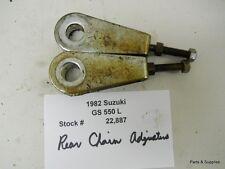 1982 Suzuki GS 550 GS550 Rear Chain Adjusters